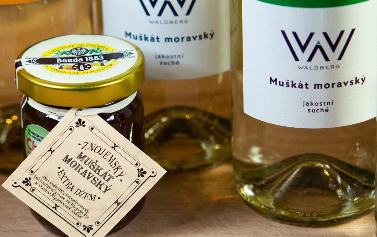Víno Muškát Moravský máme v prodeji i marmeládu z něj