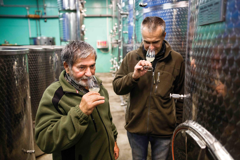 Vinařství Špalek - Špalci ve výrobě