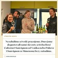 Degustace nových vín
