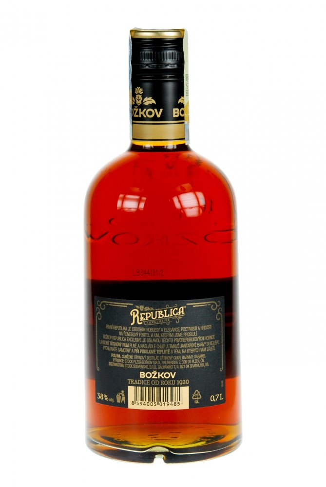 Rum REPUBLICA Exclusive, polosladký, 700 ml, 38 % - Mauricius
