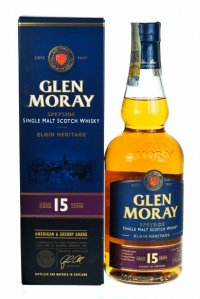 Whisky GLEN MORAY 15 years single malt, 700 ml, 46 % - Scotland
