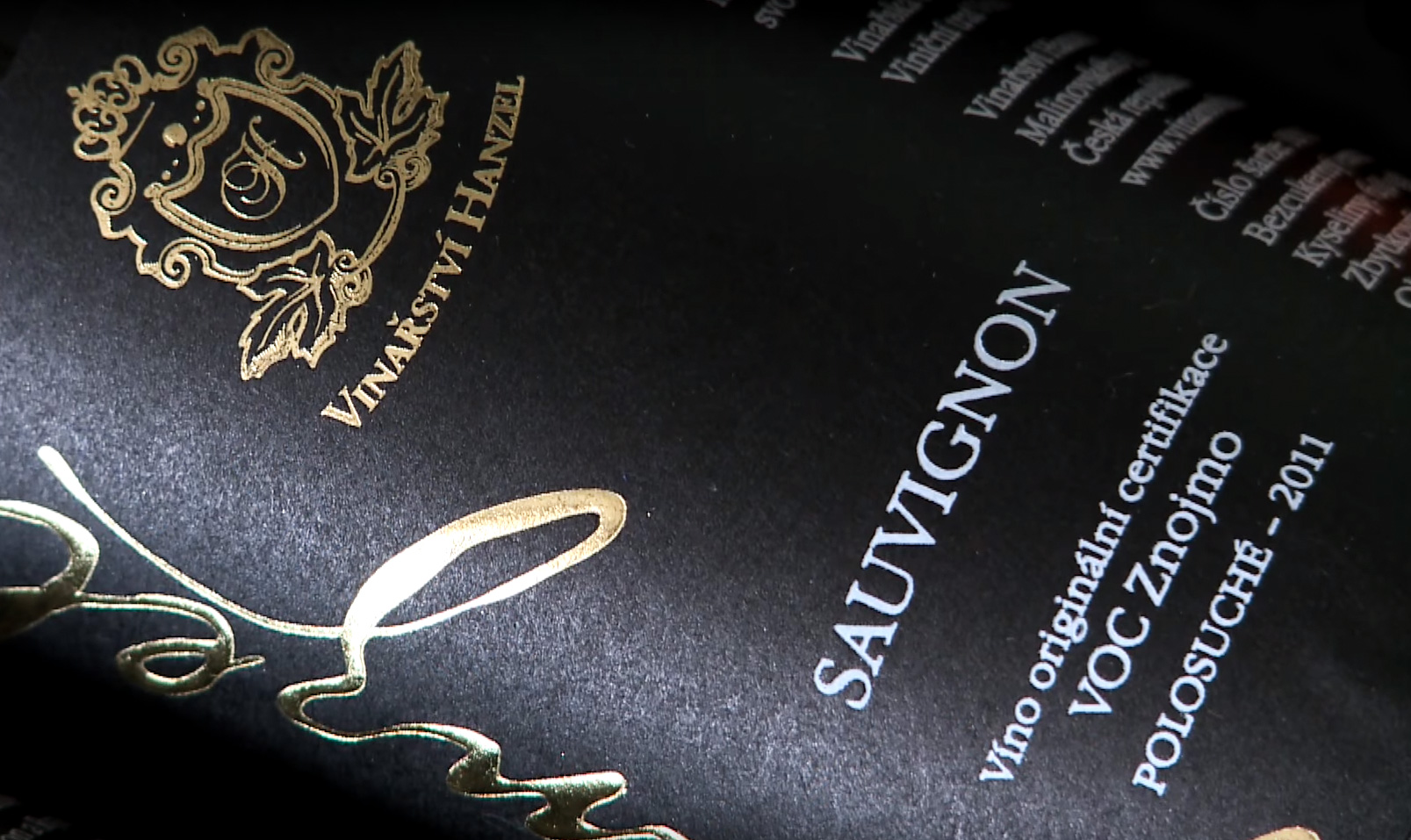 Vinařství Hanzel - původní láhve