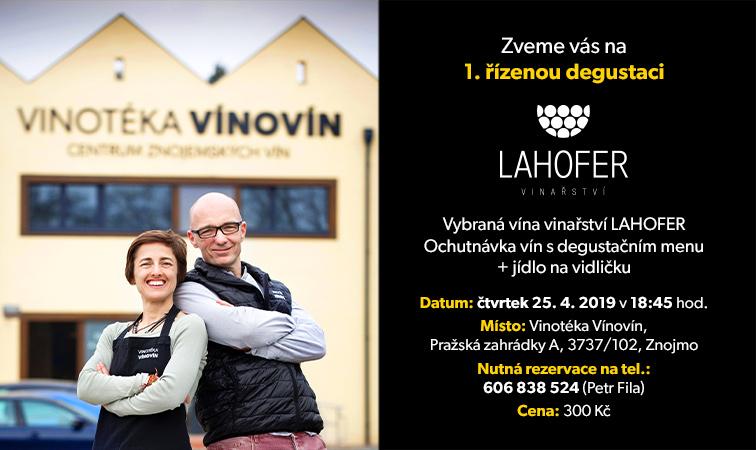 Prodej vín a pozvánka na degustaci
