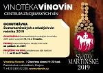 Mladá vína a Svatomartinská vína ročníku 2019