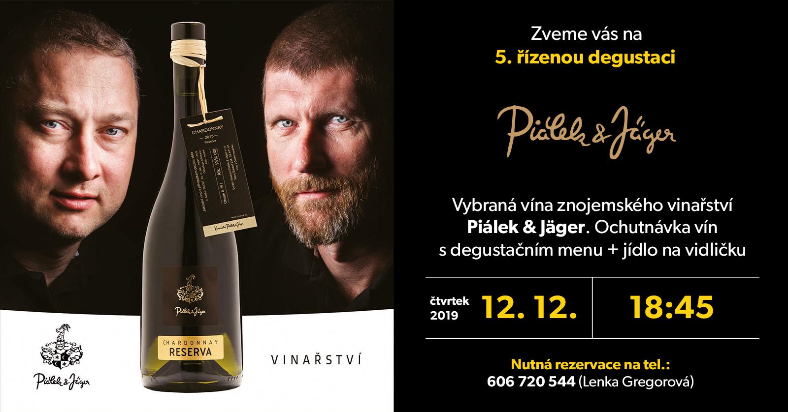 Vína Piálek a Jäger - degustace ve Znojmě