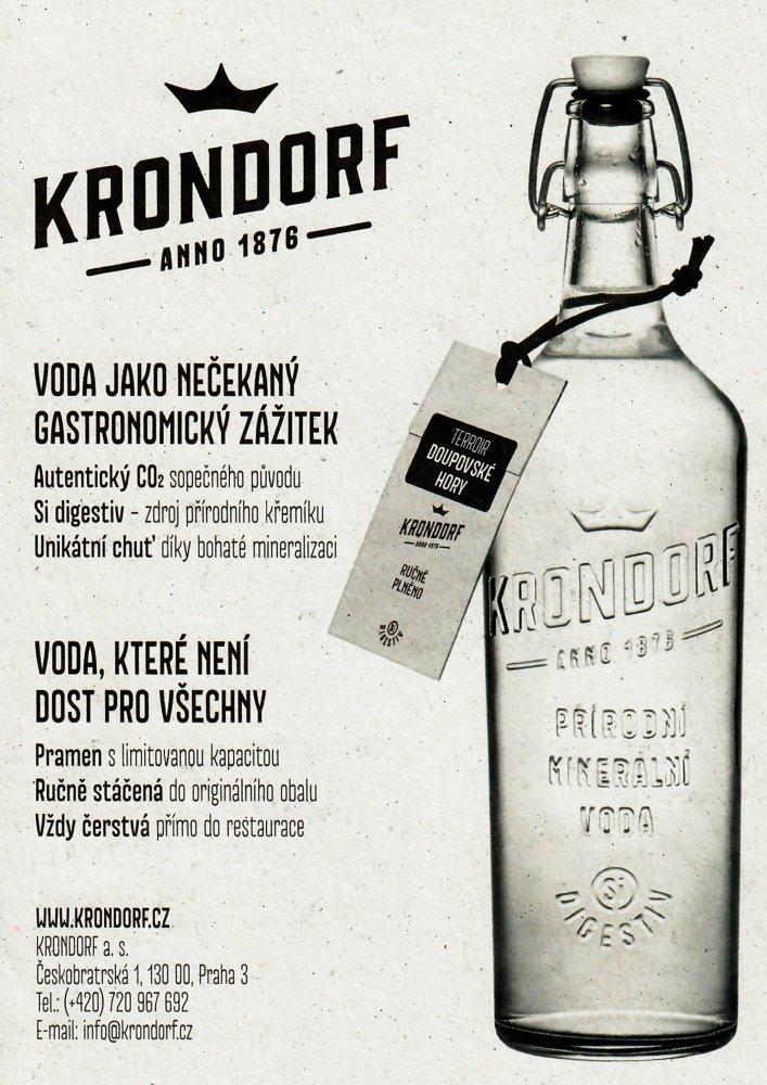 Voda KRONDORF - šperk v láhvi