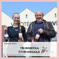 Rosé vína medaile Vaněk